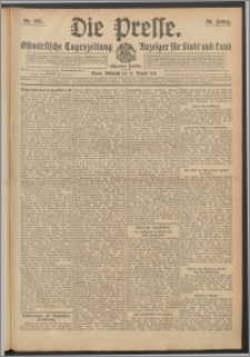 Die Presse 1912, Jg. 30, Nr. 195 Zweites Blatt, Drittes Blatt