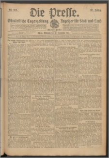 Die Presse 1912, Jg. 30, Nr. 219 Zweites Blatt, Drittes Blatt