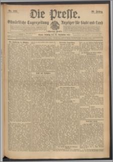 Die Presse 1912, Jg. 30, Nr. 223 Zweites Blatt, Drittes Blatt, Viertes Blatt