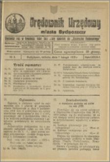 Orędownik Urzędowy Miasta Bydgoszczy, R.42, 1925, Nr 3