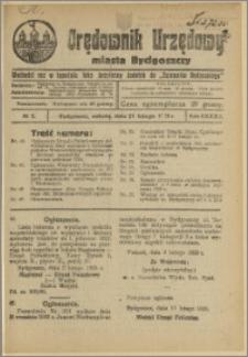 Orędownik Urzędowy Miasta Bydgoszczy, R.42, 1925, Nr 5