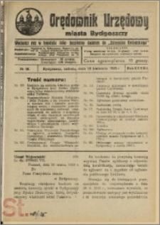 Orędownik Urzędowy Miasta Bydgoszczy, R.42, 1925, Nr 10