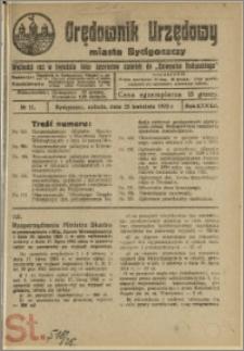 Orędownik Urzędowy Miasta Bydgoszczy, R.42, 1925, Nr 11