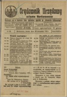 Orędownik Urzędowy Miasta Bydgoszczy, R.42, 1925, Nr 22