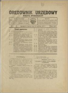 Orędownik Urzędowy Miasta Bydgoszczy, R.44, 1927, Nr 1