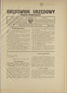 Orędownik Urzędowy Miasta Bydgoszczy, R.44, 1927, Nr 4