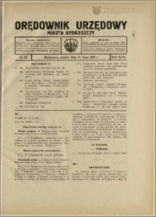 Orędownik Urzędowy Miasta Bydgoszczy, R.44, 1927, Nr 12
