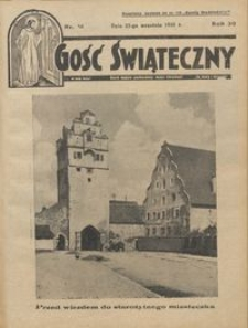 Gość Świąteczny 1935.09.22 R. XXXIX nr 38