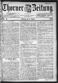 Thorner Zeitung 1894, Nr. 41 Erstes Blatt
