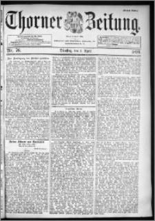 Thorner Zeitung 1894, Nr. 76 Erstes Blatt