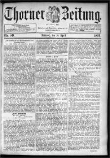 Thorner Zeitung 1894, Nr. 89