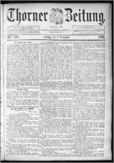 Thorner Zeitung 1894, Nr. 257 Erstes Blatt