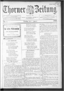 Thorner Zeitung 1895, Nr. 1 Erstes Blatt