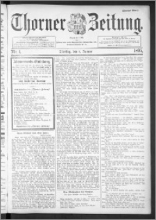 Thorner Zeitung 1895, Nr. 1 Zweites Blatt