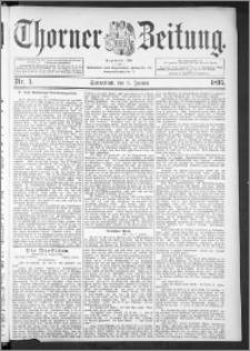 Thorner Zeitung 1895, Nr. 4