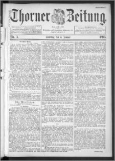Thorner Zeitung 1895, Nr. 5 Erstes Blatt