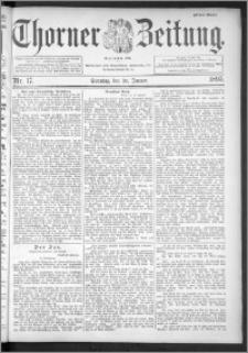 Thorner Zeitung 1895, Nr. 17 Erstes Blatt