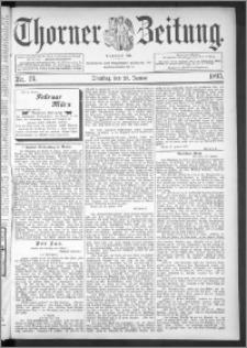 Thorner Zeitung 1895, Nr. 24 + Extra-Beilage