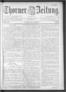 Thorner Zeitung 1895, Nr. 29 Erstes Blatt