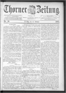 Thorner Zeitung 1895, Nr. 36
