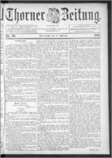 Thorner Zeitung 1895, Nr. 40
