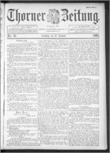 Thorner Zeitung 1895, Nr. 41 Erstes Blatt