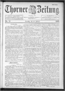 Thorner Zeitung 1895, Nr. 47 Erstes Blatt