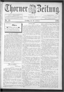 Thorner Zeitung 1895, Nr. 48