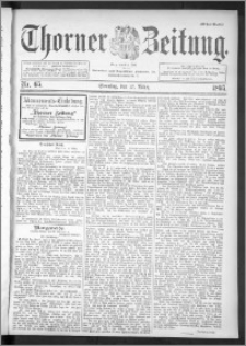 Thorner Zeitung 1895, Nr. 65 Erstes Blatt