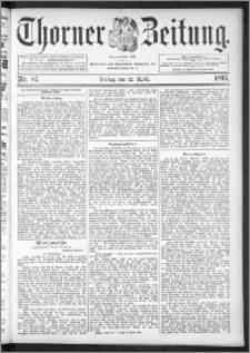 Thorner Zeitung 1895, Nr. 87