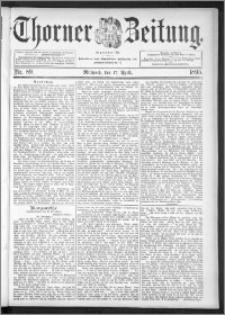 Thorner Zeitung 1895, Nr. 89