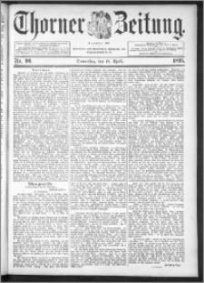 Thorner Zeitung 1895, Nr. 90
