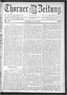Thorner Zeitung 1895, Nr. 92