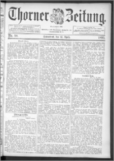 Thorner Zeitung 1895, Nr. 98