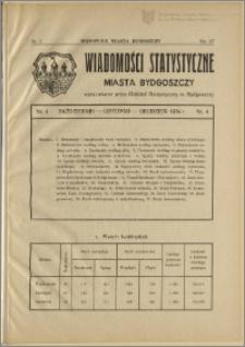 Orędownik Miasta Bydgoszczy, R.51, 1935, Nr 3, Wiadomości statystyczne miasta Bydgoszczy, Nr 4