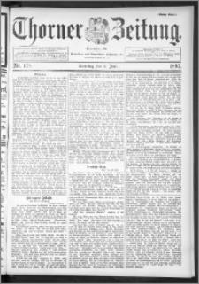 Thorner Zeitung 1895, Nr. 128 Erstes Blatt