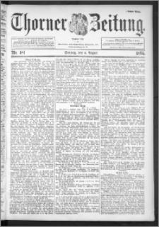 Thorner Zeitung 1895, Nr. 181 Erstes Blatt