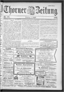 Thorner Zeitung 1895, Nr. 181 Zweites Blatt