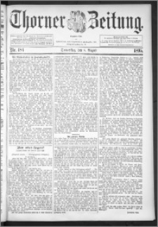Thorner Zeitung 1895, Nr. 184