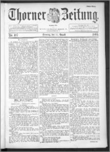Thorner Zeitung 1895, Nr. 187 Erstes Blatt