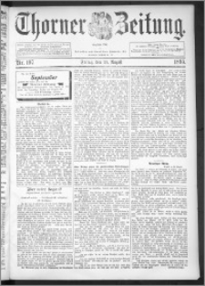 Thorner Zeitung 1895, Nr. 197