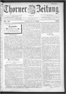 Thorner Zeitung 1895, Nr. 199 Erstes Blatt