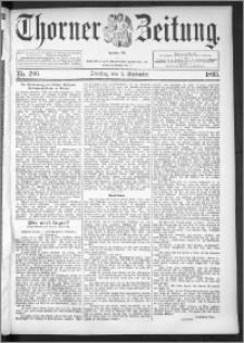 Thorner Zeitung 1895, Nr. 206