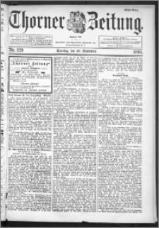 Thorner Zeitung 1895, Nr. 229 Erstes Blatt