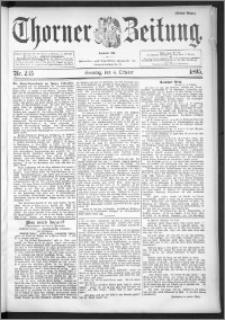 Thorner Zeitung 1895, Nr. 235 Erstes Blatt