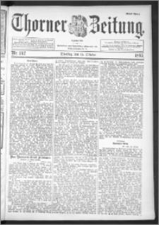 Thorner Zeitung 1895, Nr. 242 Erstes Blatt