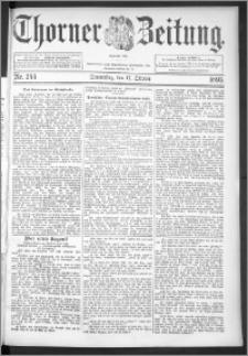 Thorner Zeitung 1895, Nr. 244