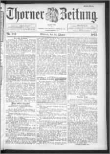 Thorner Zeitung 1895, Nr. 249 Erstes Blatt