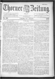 Thorner Zeitung 1895, Nr. 262 Erstes Blatt
