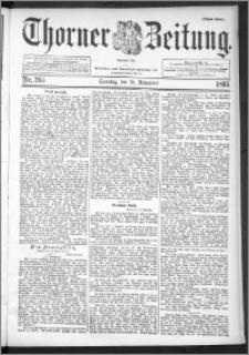 Thorner Zeitung 1895, Nr. 265 Erstes Blatt